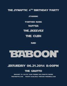 The Synaptic 4th Birthday Party Poster